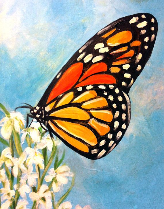 Papillon peinture par BrightSkiesArt sur Etsy