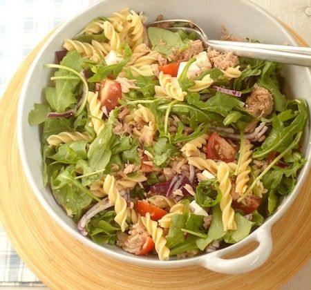 Snelle pastasalade met tonijn