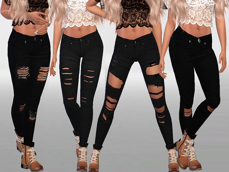 High quality ripped jeans  Found in TSR Category 'Sims 4 Female Everyday'