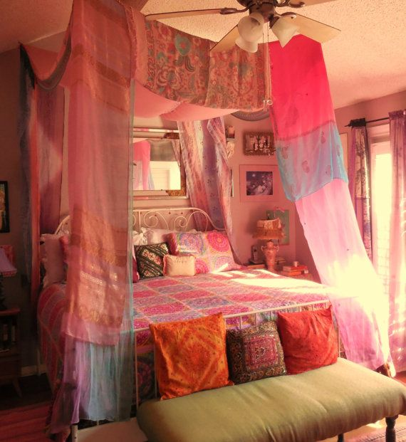 Bohemian Gypsy BED CANOPY by BabylonSisters on Etsy