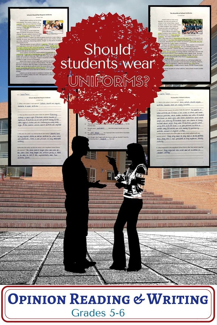 why students should wear uniforms While some kids and parents believe students should be free to dress the way they want as an expression of free speech, most schools still have a say in how students dress schools might have a dress code that gives guidelines for appropriate clothing or it might require students to wear uniforms.