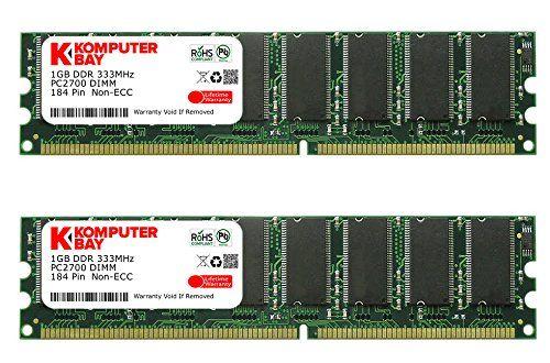 Komputerbay  2GB ( 2 X 1GB ) DDR DIMM (184 PIN) 333Mhz DDR333 PC2700 DESKTOP MEMORY No description (Barcode EAN = 5052239092597). http://www.comparestoreprices.co.uk/december-2016-4/komputerbay-2gb--2-x-1gb--ddr-dimm-184-pin-333mhz-ddr333-pc2700-desktop-memory.asp