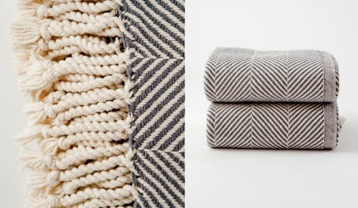 Natural Herringbone Blanket