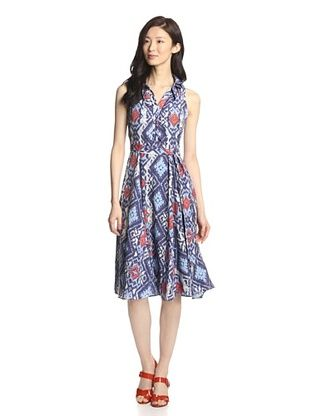 80% OFF Eva Franco Women's Shelley Dress (Aztec Diamonds)