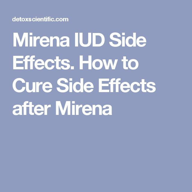 Mirena IUD Side Effects. How to Cure Side Effects after Mirena
