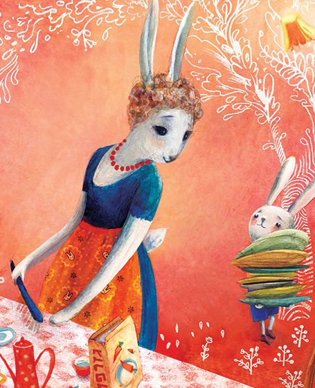 The Rabbit That Wanted to be a Tree, illustration by Maya Shleifer.