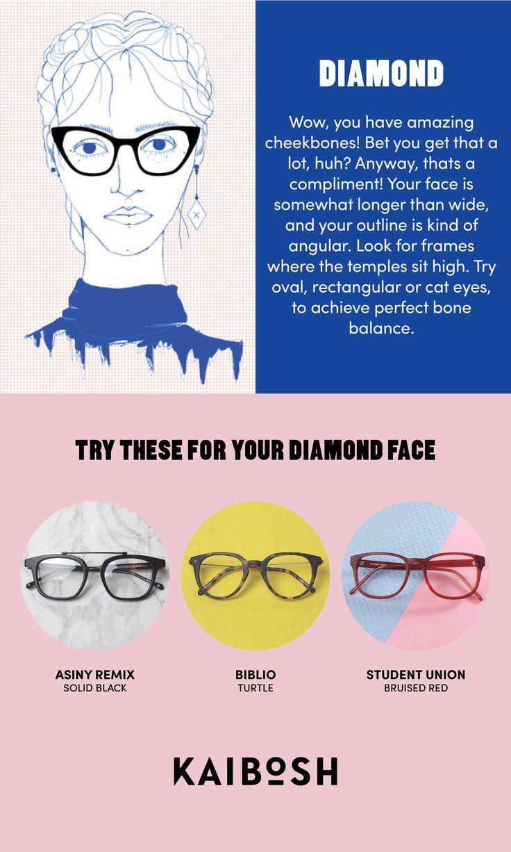 KAIBOSH | Glasses for Diamond Face Shapes | Shop glasses now on www.kaibosh.com