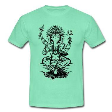 Ganesha ein Gott mit ElefantenkopfEine Ganesha Zeichnung Ganesha mit einer Lotusblüte,einer Axt,und einer Schale mit Laddus