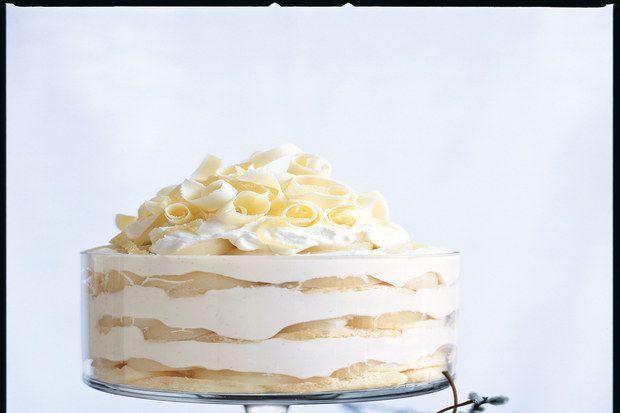 White Chocolate Tiramisu Trifle with Spiced Pears | Recipe | Tiramisu ...