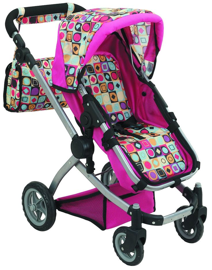Deluxe Doll Pram with Swiveling Wheels