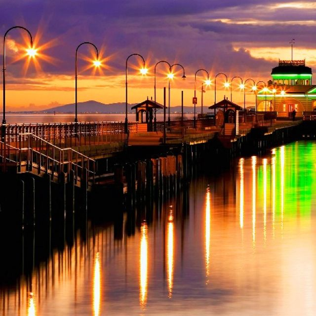 St Kilda Pier, Victoria, Australia. My paternal Grandfather used to take me fishing as a child off this pier. :) There is a colony of little Penguins here. I used to watch them come in after sunset from the St Kilda breakwater. They do that every night of the year. :)