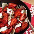 Salade de fraises ... fromage et dessert !
