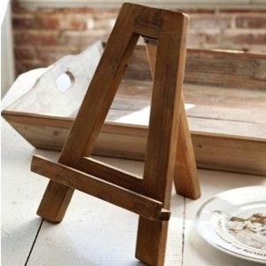 Small Wooden Table Top Easel