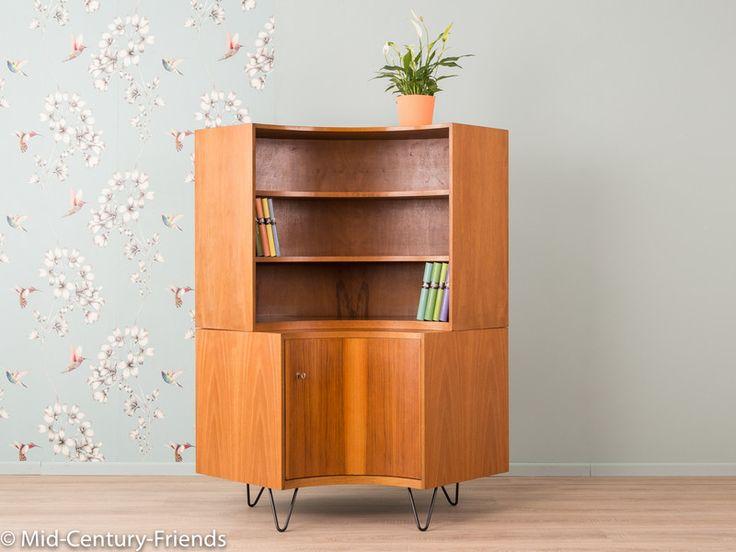 Vintage Möbel - 50er Eckschrank, Kommode, Hellerau, Vintage, 60er - ein Designerstück von Mid-Century-Friends bei DaWanda