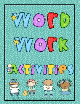 This is a packet of 12 activities for Word Work Activities for Daily 5 or Literacy Centers.These are the activities included:2-12 are all for...