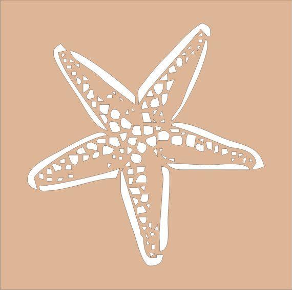 Beach Stencil STARFISH Stencil Design2 5x5 by SuperiorStencils, $8.50
