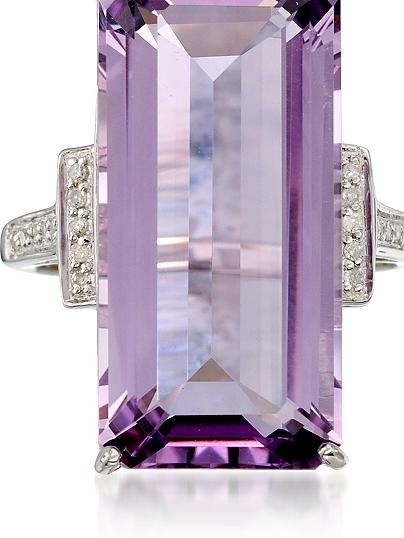amethyst & diamond ring ross simons