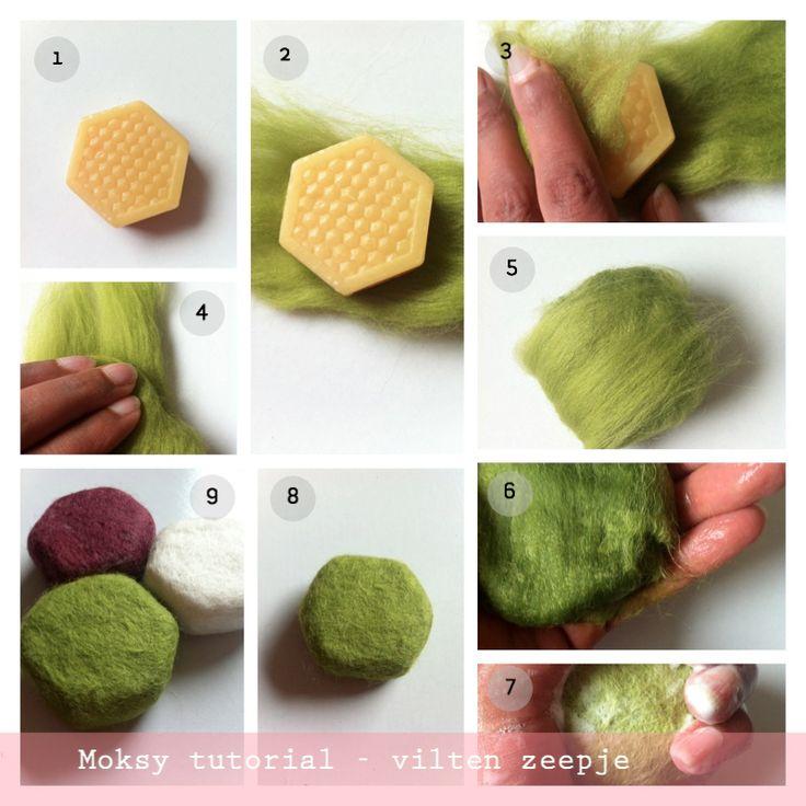 Moksy - Wool wrapped soap tutorial | Felted soap DIY - Vilten zeepje