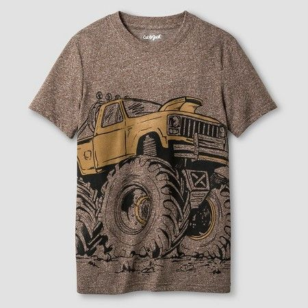 Boys' Monster Truck Graphic T-Shirt Cat & Jack™ - Brown : Target