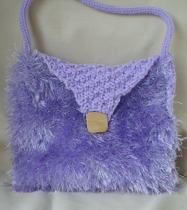 Gift for girls,Hand bag for girls,Hand knit bag,Shopping bag for girls, £13.50