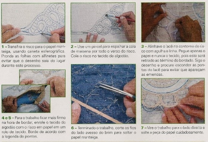 Renda Renascença - Tutorial in Portuguese.  Similar to Romanian Point Lace.