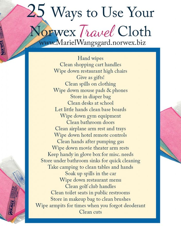 25 Awesome Ways to Use the Norwex Travel Cloth - Or so she says...