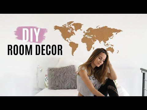 DIY ROOM DECOR | cabecero con mapa del mundo & cómo pintar muebles de forma original | Dare to DIY | Bloglovin'