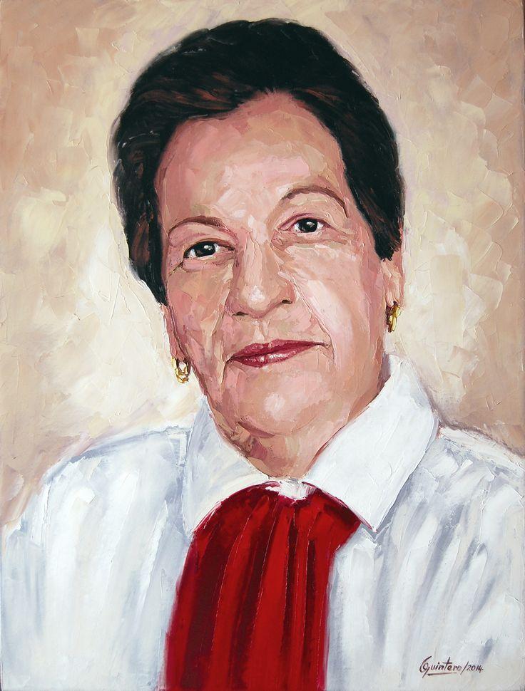 Rocio Tapasco de Trejos - Oleo con espátula sobre lienzo - 61 x 46 cm - 2014