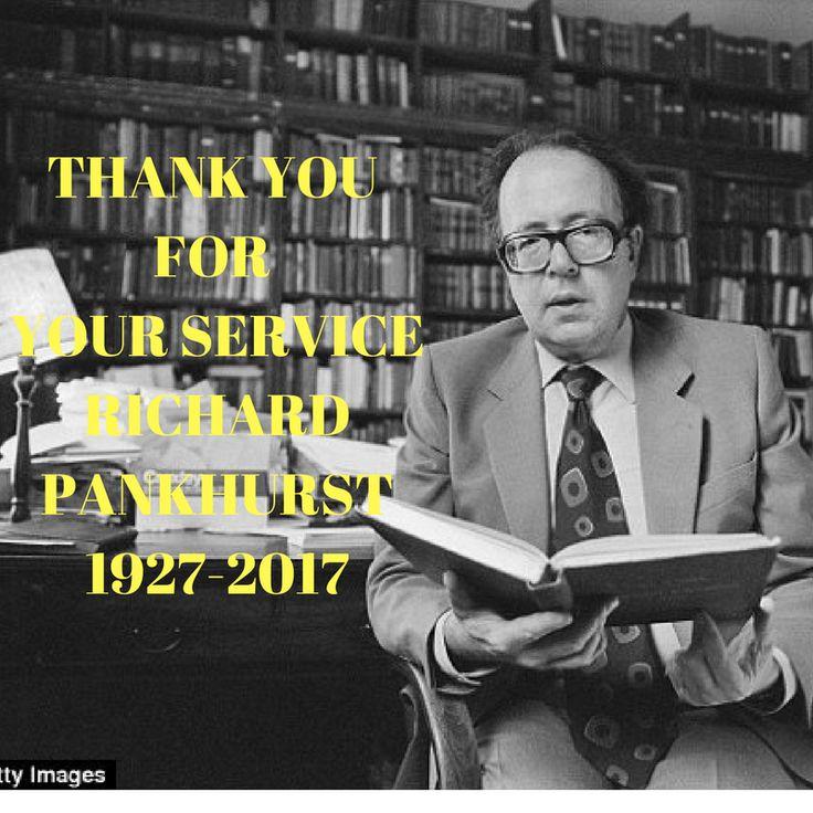 Ethiopia's True Friend and Founder of Ethiopian Studies Richard Pankhurst Died at 89.