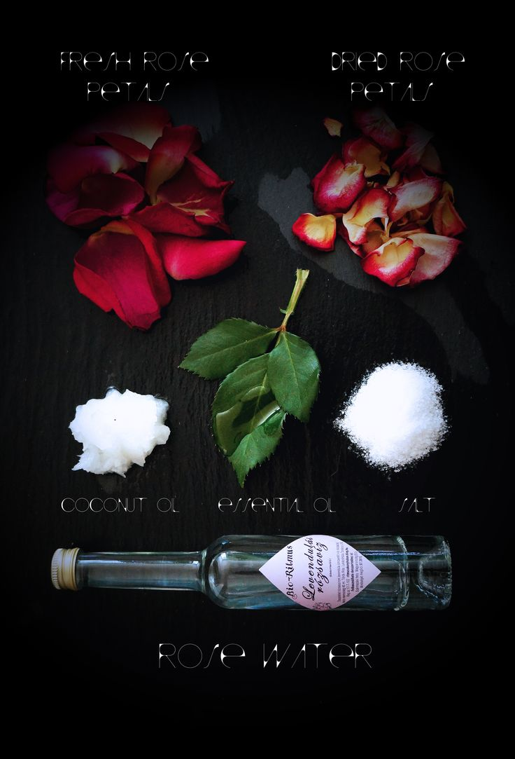 Rose and coconut oil body scrub ingredients