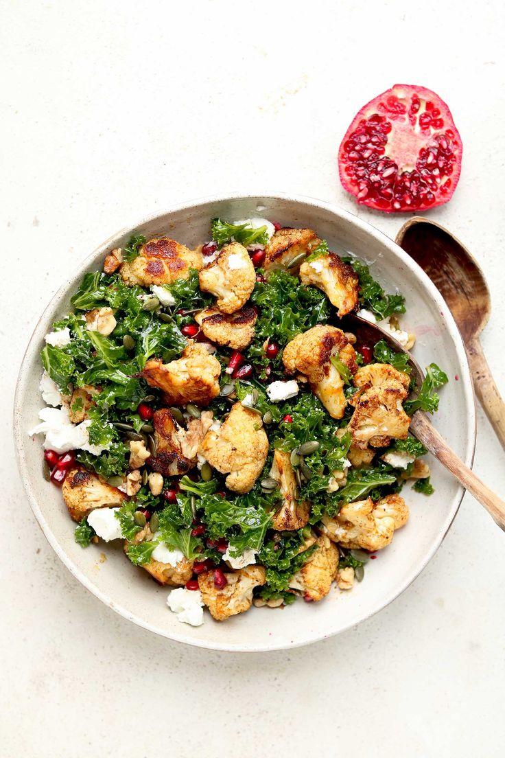 Roast Cauliflower Salad with Kale