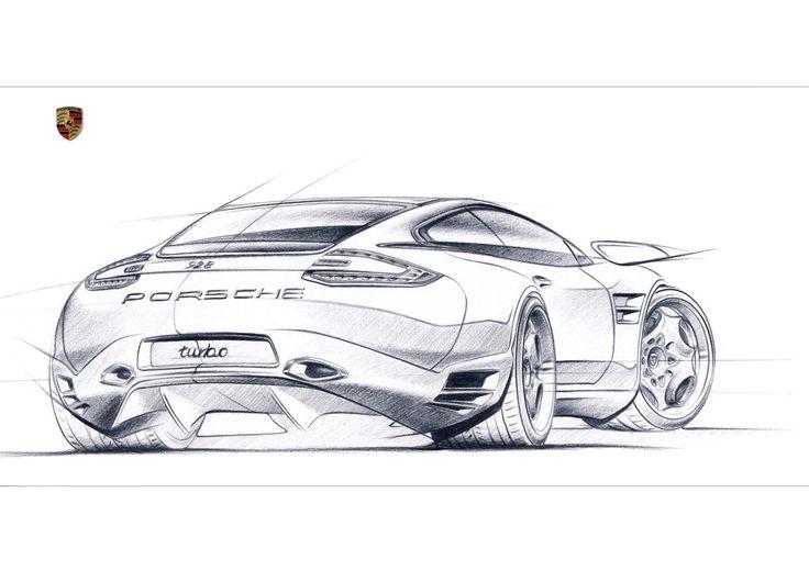 Porsche car design sketching