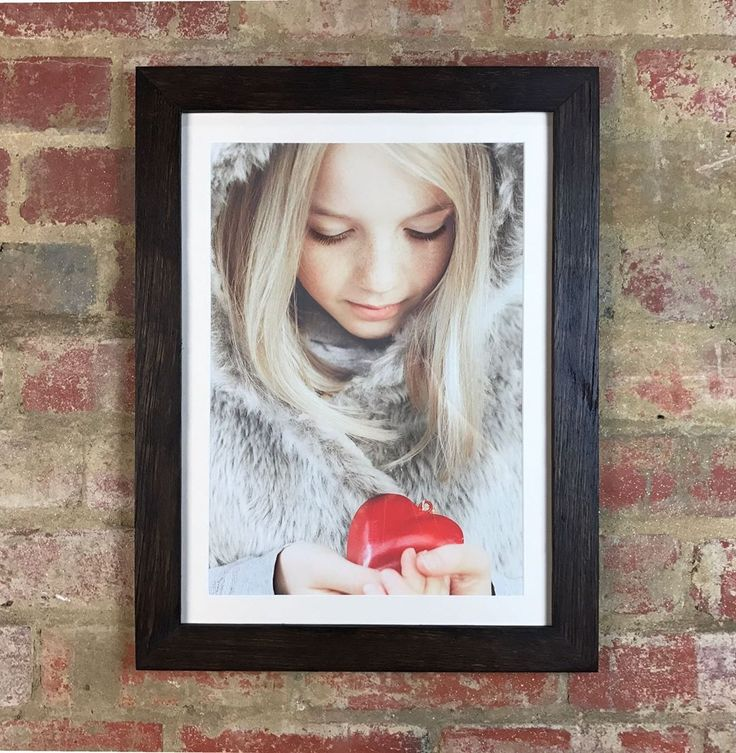 """A customers lovely photograph of """"Love"""" for Valentines Day housed in a Mulbury Original Chocolate Waxed Frame. Simple and effective. #mulbury #RecycledTimber #art #ValentinesDay #CustomFraming #MulburyMade"""