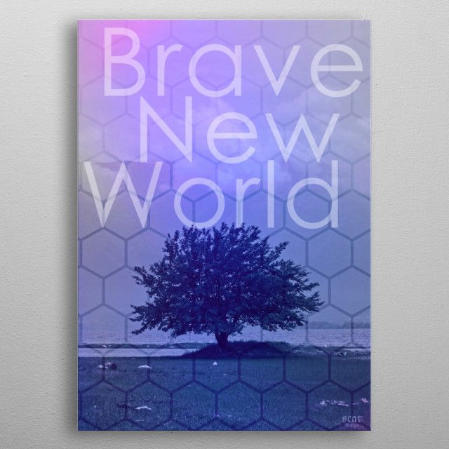 Winter Sale - Use code: SNOWMAN  Buy 3-4 get 15% OFF | 5+ 25% OFF. Brave New World Poster by Scar Design. #bravenewworld #book #poster #bookworm #books #dystopian #future #aldoushuxley #sciencefiction #scifi #gifts #giftsforhim #giftsforher #bookcover #design #popular #online #shopping #novel #home #homegifts #homedecor #forbooklovers #photography #photographylovers #giftideas #cool #awesome #campus #dorm #bookclub