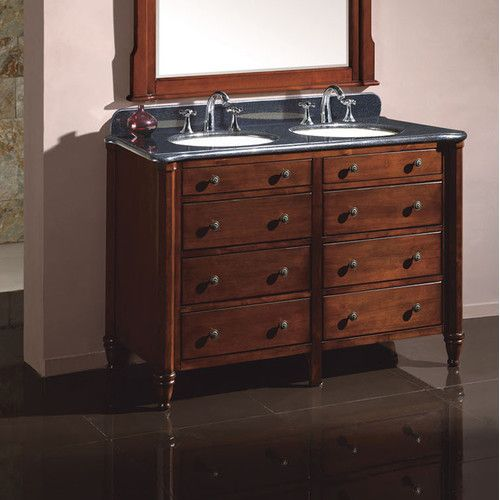Silkroad exclusive naomi 60 double sink cabinet bathroom vanity set - 1000 Images About Master Bathroom Bliss On Pinterest