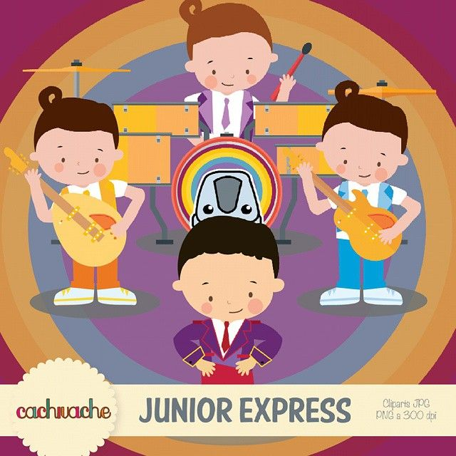Instagram media by cachivache.kids - Buenos dias!! Tenemos este primer paquete de junior express listo con topa y los rulos! #topa #rulos #juniorexpress #monoriel #kids #musica #disney #infantil #diseñovenezolano #designersvenezuela #caracas #venezuela