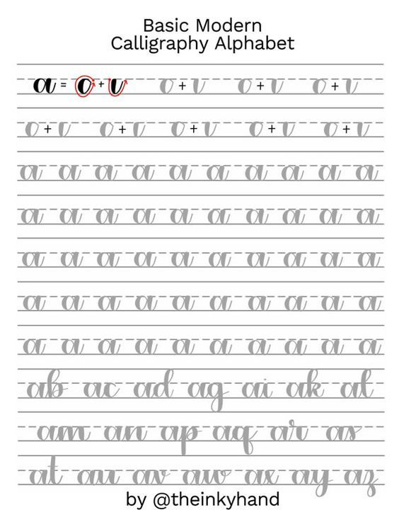 Learn Modern Calligraphy With My Lowercase A Z Practice Sheet Set Your Download Includes An In
