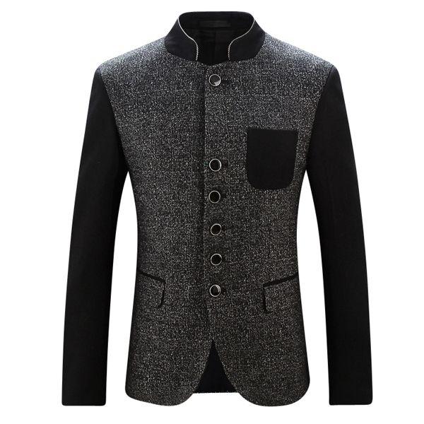Elegant Black Polka Dot Male Blazer with Black Sleeves #mens #blazer #blazercraze Get discount more blazers http://www.blazercraze.com/blazercraze-modern-men-blazers-selection/men/modern-men-blazers-selection-c-998349867.html