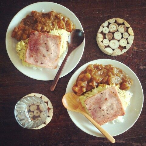 #curry #ham #eggs