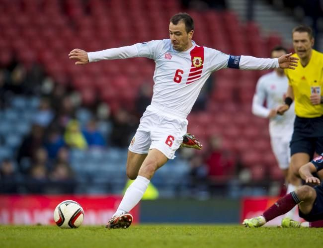 Roy Chipolina in action for Gibraltar against Scotland last year
