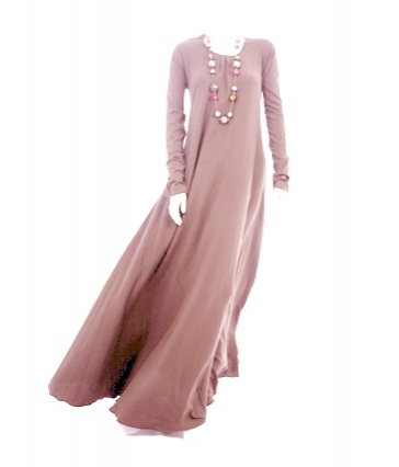 Mulberry Pinky Beige abaya by: aab