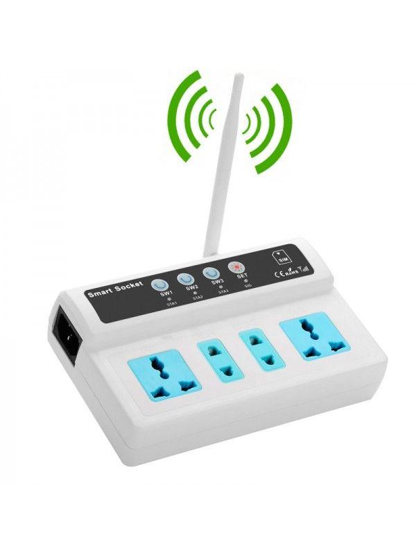 4 Port GSM Smart Switch Plug Socket