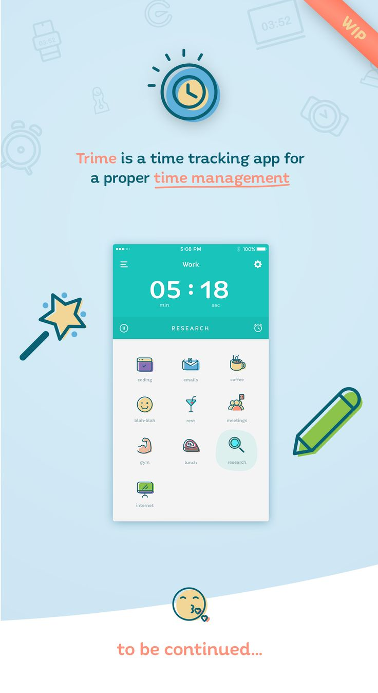 Trime is a time tracking app for a proper time management. Work in progress.