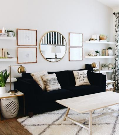Down with the flu but enjoying the pretty view  up on the blog I shared all about how I turned our eclectic glam living room into a mid century modern oasis on a budget! (Link in profile) http://liketk.it/2qgYz @liketoknow.it #liketkit #ltkhome