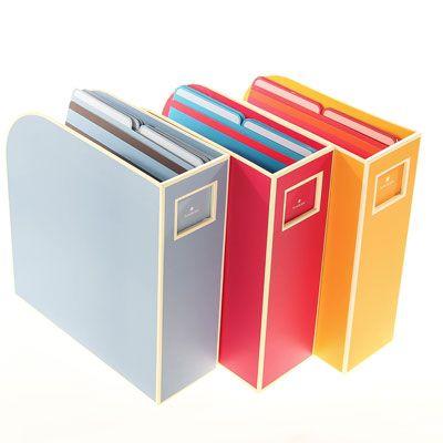 Semikolon Yellow Magazine File Box Stylish Office