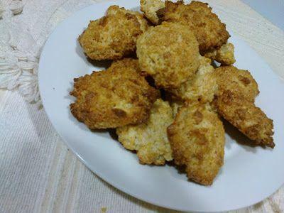 Biscoitos de coco e corn-flakes