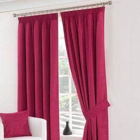 Dunelm Solar Blackout Pencil Pleat Curtains in Fuchsia Pink (228cm x 228cm)