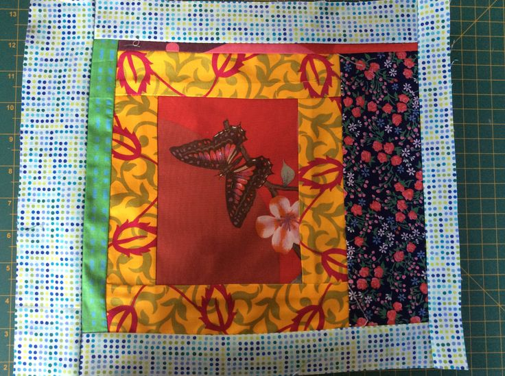 My wonky quilt square