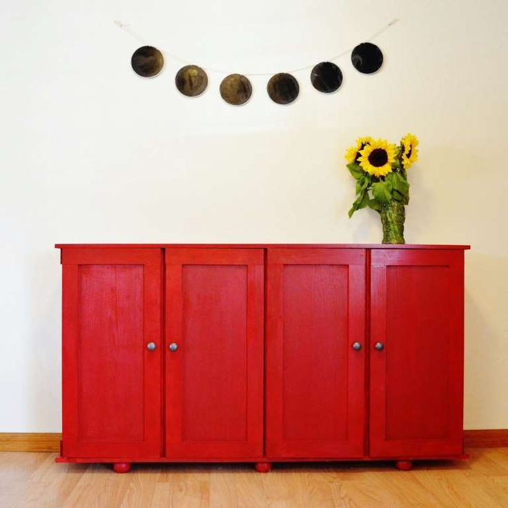 IKEA's IVAR units are usually solid, unfinished cabinets. ($80, ikea.com) But a coat of bright red p... - Snuggle Bug University