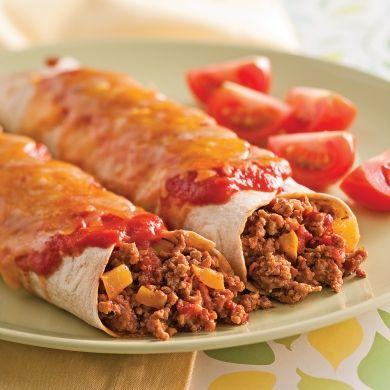 Enchiladas au veau - Recettes 5-15 - Recettes express 5/15 - Pratico Pratiques